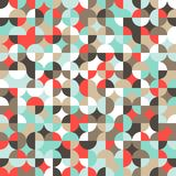 Mosaic colorful background of geometric shapes. Stock Photography