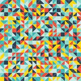 Mosaic colorful background of geometric shapes. Royalty Free Stock Images