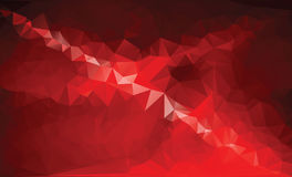 Mosaic colorful background. Red low poly background stock photography