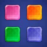 Mosaic colorful buttons Royalty Free Stock Images