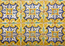 Mosaic of colorful ceramic tiles with floral style Royalty Free Stock Image