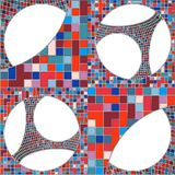 Mosaic Colorful Urban Geometric Structure Vector Stock Photo