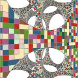 Mosaic Colorful Urban Geometric Structure Vector Stock Image
