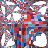 Mosaic Colorful Urban Geometric Structure Vector Stock Photography