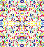 Mosaic from colour petals. Mosaic background from multi-coloured petals and flowers Stock Photo