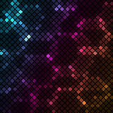 Mosaic with colourful hexagons background Royalty Free Stock Photos