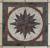 Mosaic compass Stock Photos