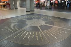 The mosaic compass in Hanover Stock Image