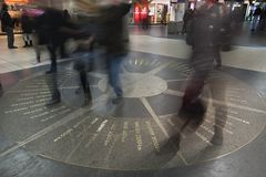 The mosaic compass in Hanover Stock Images