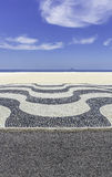 Mosaic on Copacabana Beach in Rio de Janeiro Royalty Free Stock Photo