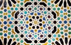 Mosaic of courtyard of Machuca royalty free stock photos