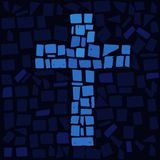 Cross. Mosaic of Cross in  for Jesus Royalty Free Stock Image