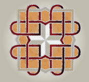 Mosaic cross. Cross from the mosaics on the marble floor Stock Images