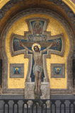 Mosaic with the Crucifixion of Jesus Royalty Free Stock Photos