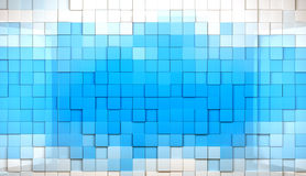 Mosaic cubes background. Abstract cubes background in blue toned Stock Illustration