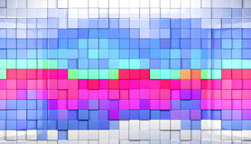 Mosaic cubes background Royalty Free Stock Images
