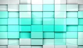 Mosaic cubes background Stock Photo