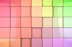 Mosaic cubes background. Coloful abstract tiles cubes background Stock Illustration