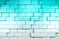 Mosaic cubes background. Abstract cubes background in blue toned royalty free illustration