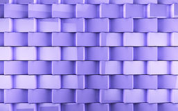 Mosaic cubes background. Abstract cubes background in purple toned Vector Illustration