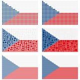 Mosaic Czech Republic flag set Stock Images