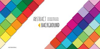 Mosaic 3d paper cut out abstract background. For business presentation, brochures, posters design. Vector vector illustration