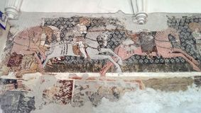Mosaic in Darjiu monastery Royalty Free Stock Photos