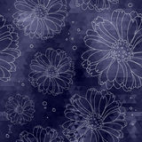 Mosaic dark flower background. Floral pattern. Stock Images