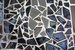 Mosaic dark tiles wal. Stock Photography