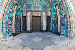 Mosaic Decoration of Entrance to Mosque in St Petersburg Stock Photo