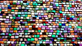 Mosaic decoration multicolor cold colors Royalty Free Stock Photo