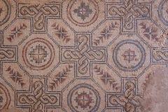 Mosaic decoration of the ruins of ancient Villa Romana del Casale Stock Photo
