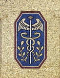 Mosaic decoration 4. Mosaic decoration on the wall of one house in Berlin royalty free stock photography