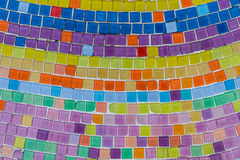 Mosaic decoration. Wallpaper background with mosaic tile art decoration Stock Photos