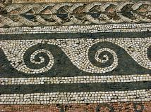 Mosaic in Delos,Greece Stock Photos