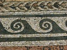 Mosaic in Delos,Greece Stock Photos