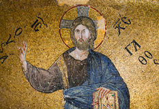 Mosaic depicting Christ in Pammakaristos Church in Istanbul, Tur Stock Photo