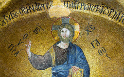 Mosaic depicting Christ in Pammakaristos Church in Istanbul, Tur Royalty Free Stock Photo