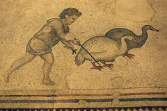 Mosaic detail. Ancient Roman Mosaic in Mosaic Museum,istanbul,Turkey Royalty Free Stock Photography