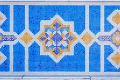 Mosaic detail, Almaty central mosque, Kazakhstan Stock Photography