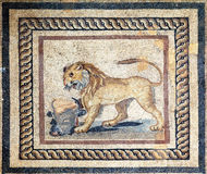 Mosaic Detail Ephesus Terrace Houses Stock Image