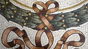 Mosaic detail on floor Vittorio Emanuele II Gallery. Milan. Italy royalty free stock images