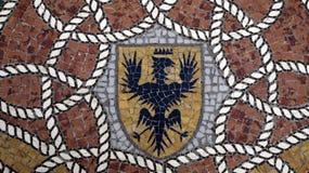 Mosaic detail on floor Vittorio Emanuele II Gallery. Milan. Italy royalty free stock photos