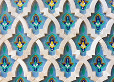Mosaic detail - Hassan II Mosque - Casablanca Royalty Free Stock Photography