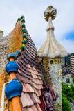 Mosaic detail on the roof, Casa Batllo Stock Image