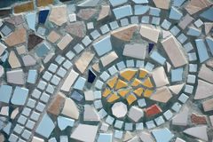 Mosaic detail. Detail of a mosaic wall mural showing a swirl representing a wave Stock Photography