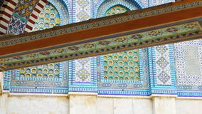 Mosaic of Dome of the Rock mosque in Jerusalem stock footage