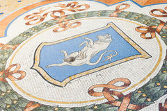 Mosaic details in a street of Milan, Italy Stock Images