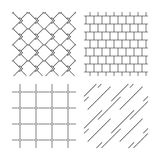Mosaic, diagonal lines and grid textures Stock Photo