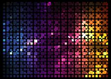 Mosaic - Disco effect Stock Image